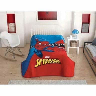 Taç Spiderman(örümcek adam) battaniyesi
